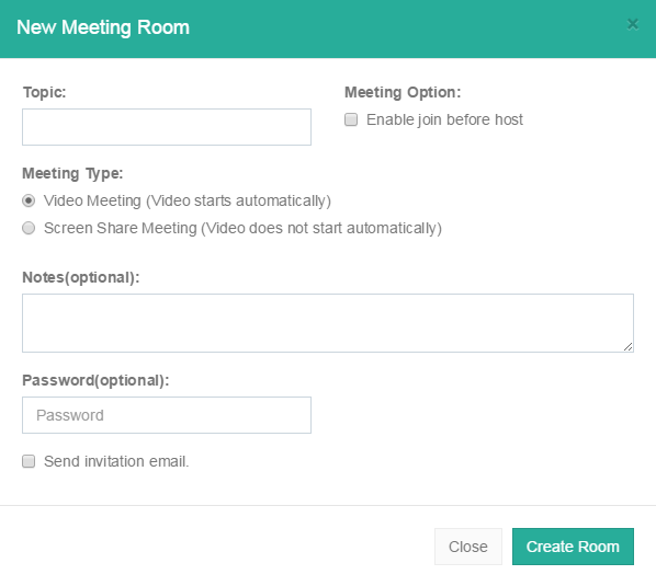 create a video conference meeting room