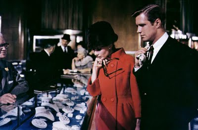 audrey hepburn + george peppard in breakfast at tiffany's