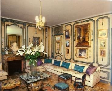 Salon at de Wolfe's Villa Trianon outside of Paris