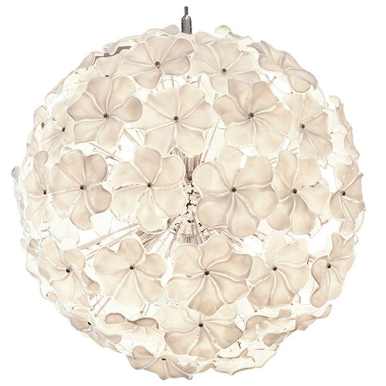 Murano Glass Flower Chandelier by Cendese | via :: 1stdibs.com