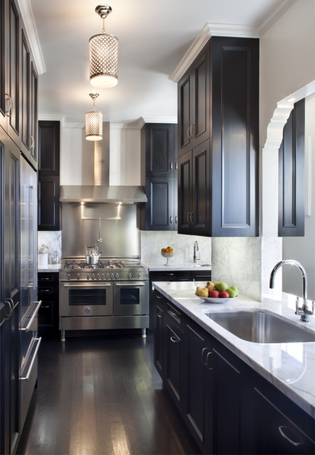 Why i love galley kitchensbrettvdesignblog for Best lighting for galley kitchen