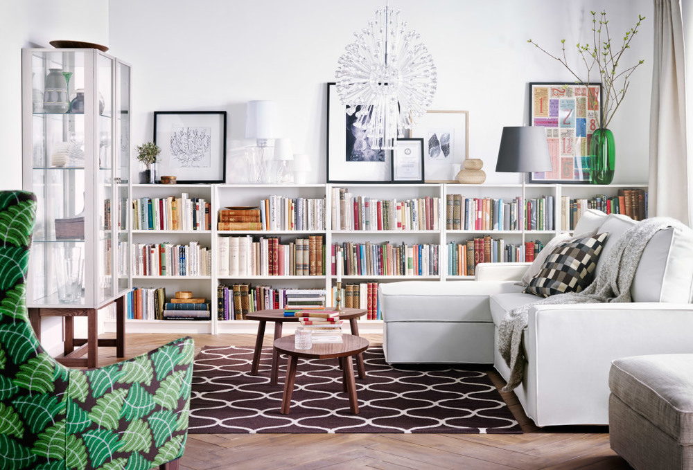 Living Room With Bookcases | Conceptstructuresllc.com