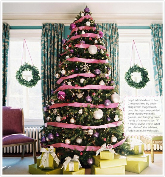 christmas-tree-pink-ribbon-wreaths-gifts