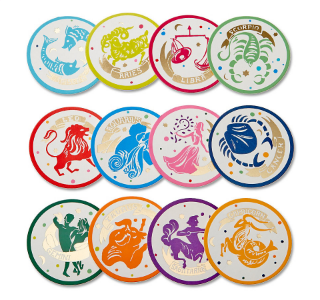 Zodiac Paper Coasters from C. Wonder