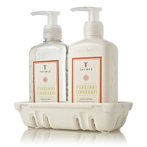 Mandarin Coriander Sink Set from Thymes