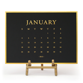 2015 classic desk calendar from Sugar Paper LA