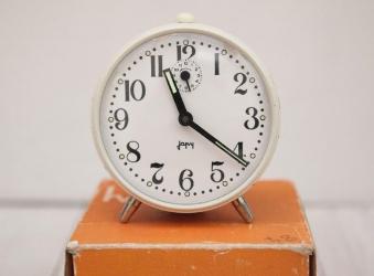 Vintage French Alarm Clock via etsy