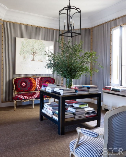 Carolina Herrera's home in spain via elle decor