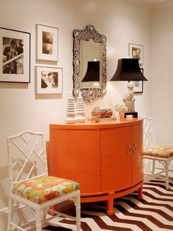 orange+sideboard+chevron+rug+brettVdesign