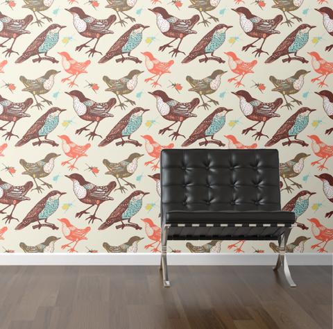 walls need love :: birds + beetles