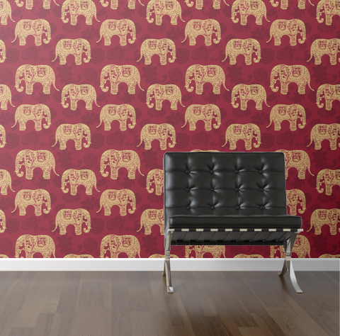 walls need love :: paisley elephants