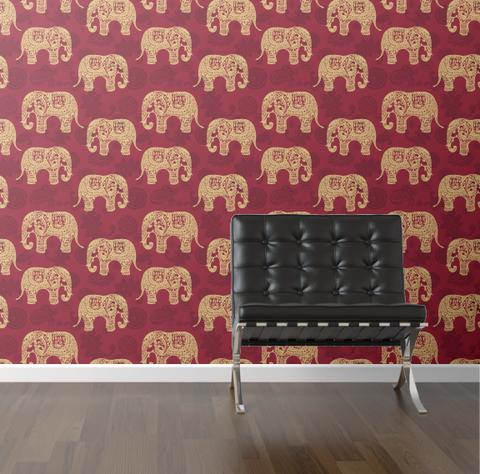 walls need love :: paisley elephants