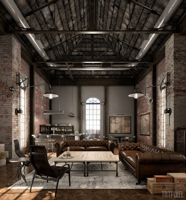 Industrial chic utilitarian simple naturalbrettvdesignblog - Style industriel chic ...