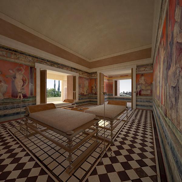 Villa of the Mysteries in Pompeii via Behance