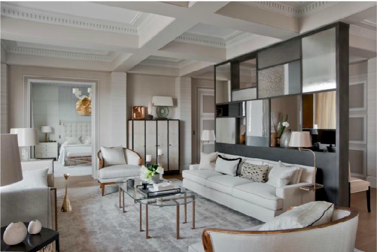 Apartment on the avenue Montaigne in Paris designed by Jean-Louis Deniot