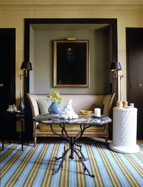 jean-louis deniot+sofa+niche+striped+rug+brettVdesign