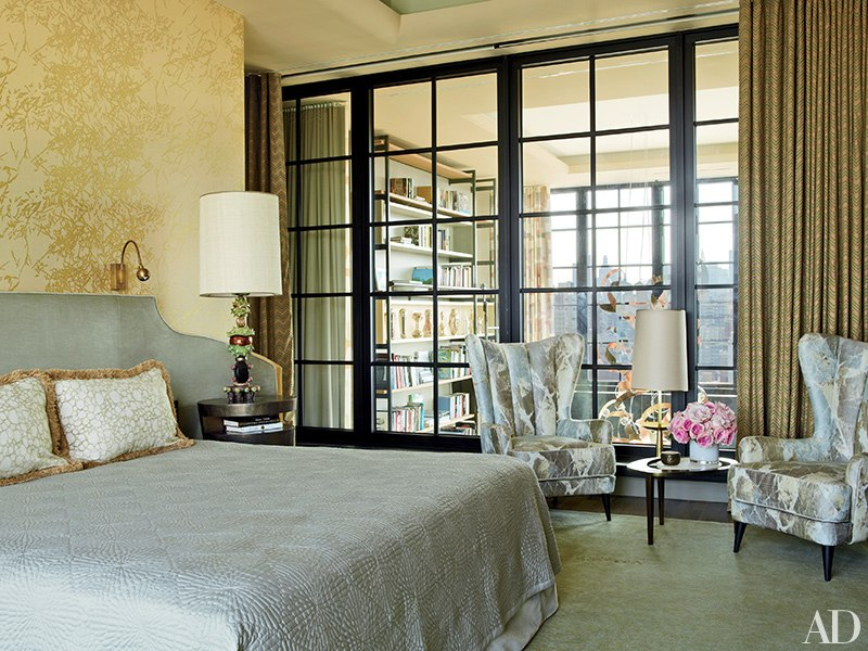 Apartment in NYC designed by Jean-Louis Deniot, seen in Architectural Digest