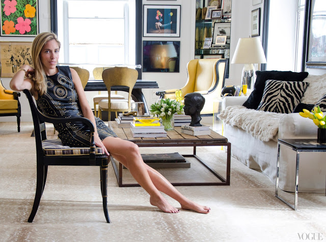 Nicole Hanley Mellon in her apartment.  Seen in Vogue Magazine
