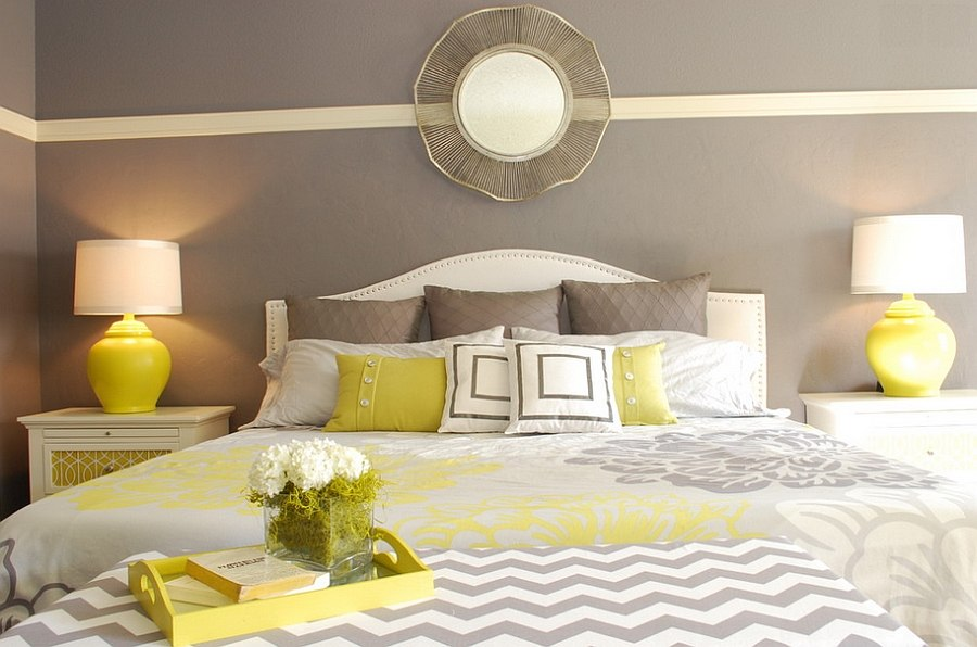 Bedroom+yellow+bedside+table+lamps+gray+chevron+brettVdesign Part 88