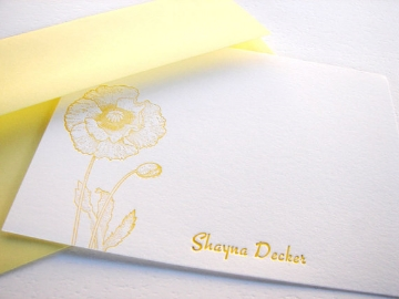 aloha+letterpress+yellow+personalized+card+brettVdesign