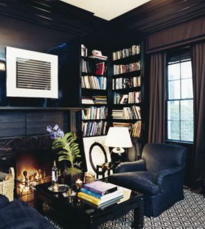 aerin+lauder+nyc+study+fireplace+brettVdesign