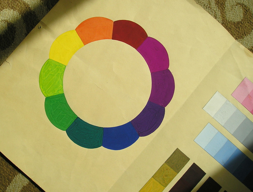 "My mom's color chart which earned her an ""A."""