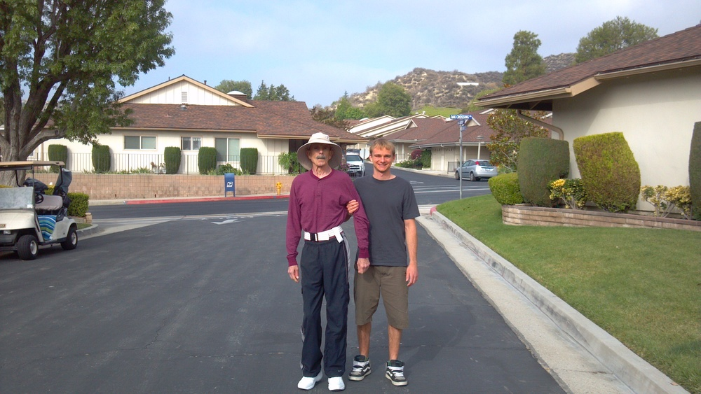 Gary and Jason on our daily walk around the neighborhood.