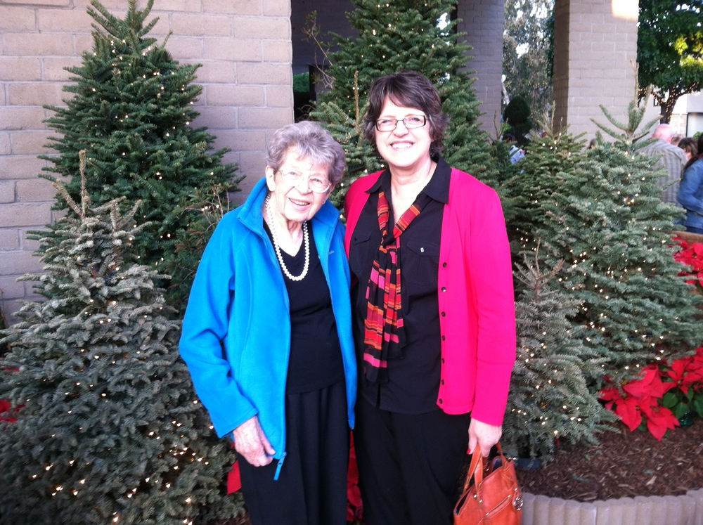 Mom and I at the Christmas Concert, 2013