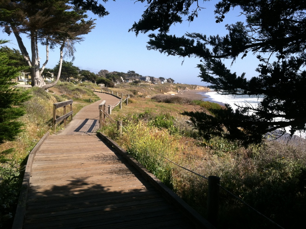 Moonstone Beach, Cambria, California - Walking with the Lord and very sweet memories.