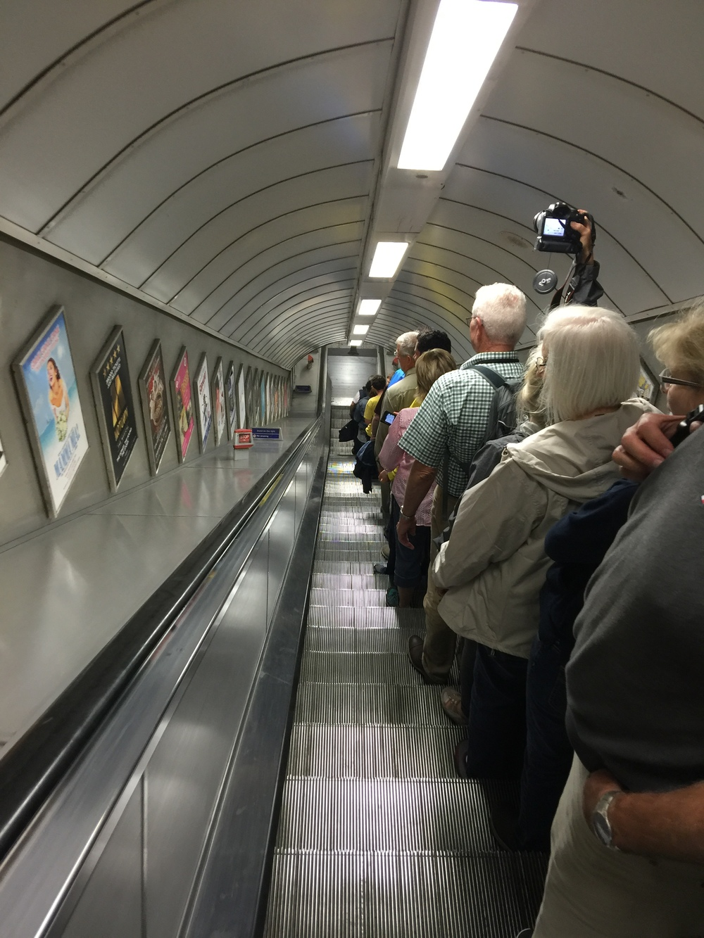 One of many descents into the Tube.