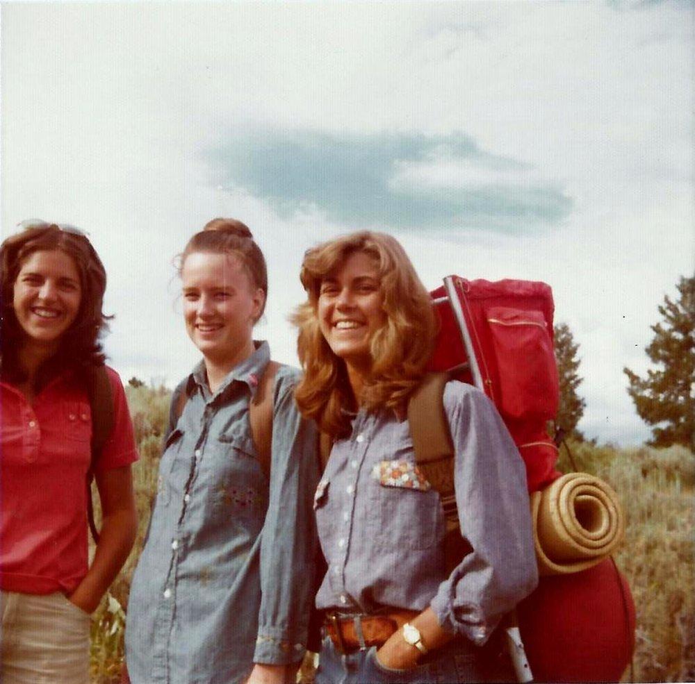 Laurie, Jo, Jenni - GTNP - 1974