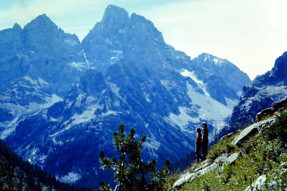 Gary & Laurie - Near Lake Solitude - GTNP - 1977