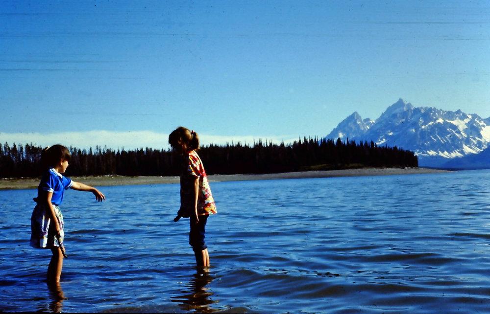 April & Sarah - Jackson Lake - GTNP - 1986