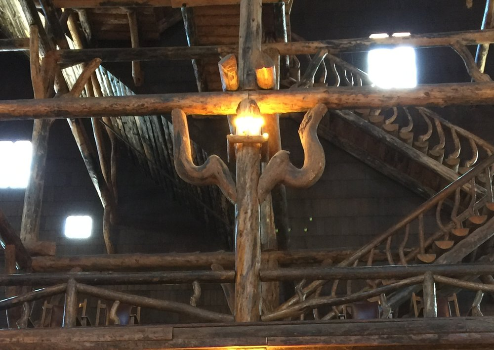 Beam support in Old Faithful Inn.  One of hundreds, and they all match.  YNP