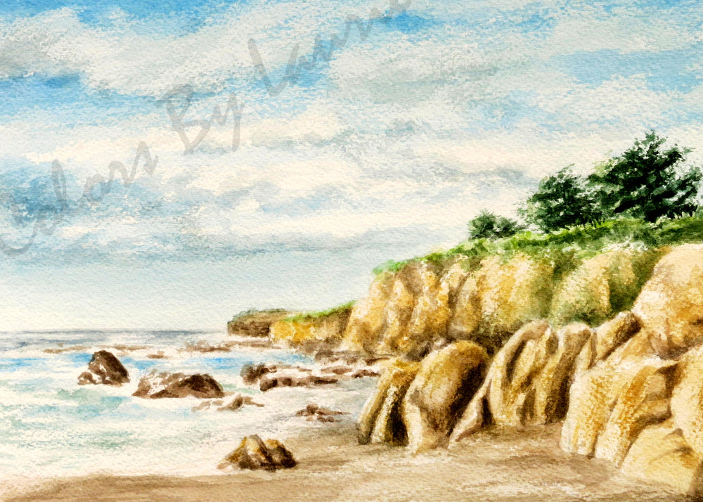 MOONSTONE BEACH - Cambria, CA - SIZE: 5 X 7
