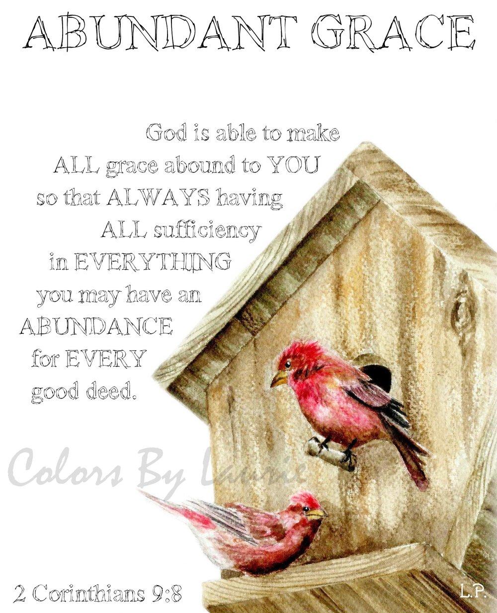 2 CORINTHIANS 9:8   - SIZE: 8 X 10