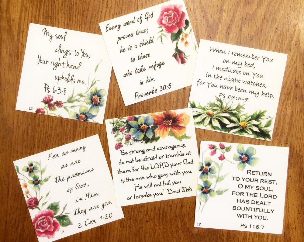 REST IN GOD'S PROMISES MINI CARDS