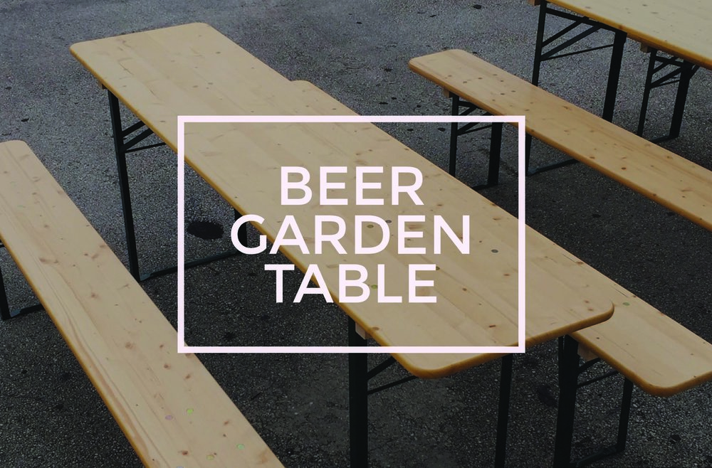 Beer garden rental tables