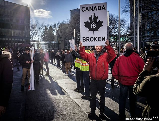 This seems like a weekly occurrence in Calgary now:  Oil and gas industry supporters gather at a pro-pipeline rally at city hall in Calgary, Alta., Monday, Dec. 17, 2018.THE CANADIAN PRESS/Jeff McIntosh . . . . . #oilandgasindustry #aboil #canadianoilndgas #albertaoil #CdnPoli #YYC #Calgary #oilandgas #Fuji  #fujifeed #fujixseries #fujilove #fujifilmx100F #fujifilmxpro2 #fujinon #fujifilmxseries #fujix #fujiframez #fujixpro2 #fujix100f #reportagespotlight #magnumlearn #photographanevent