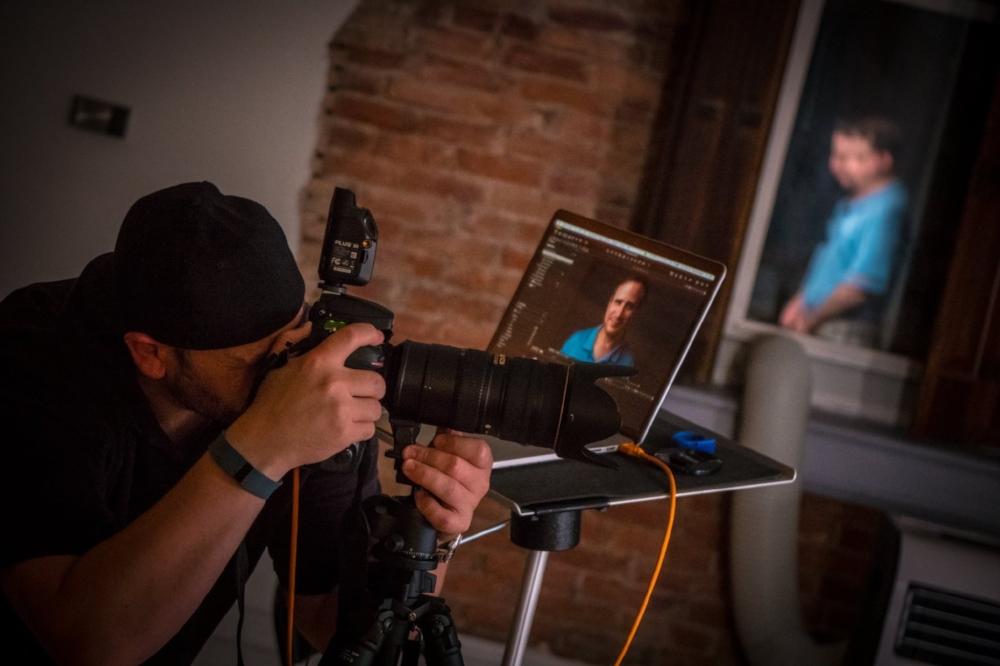 Richard-Waine-Headshot-Photographer-In-Action