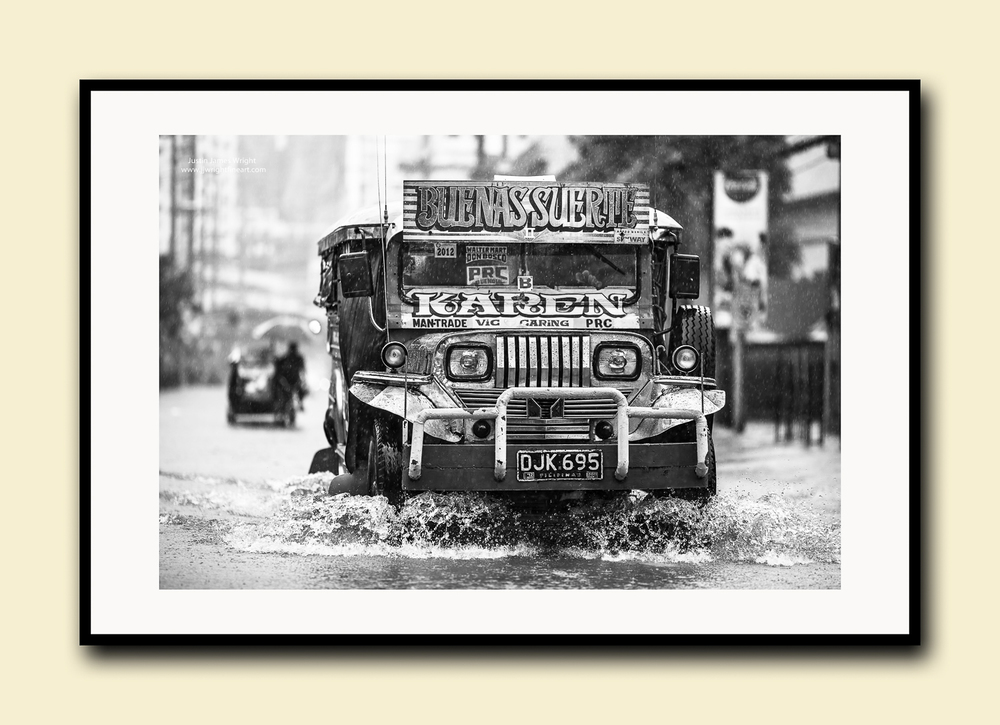 Fine art print on textured cotton paper, doublematted (archival)with hardwood frame.Available in printsizes A4, A3,A2 and A1.