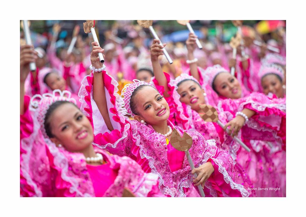 Sinulog festival, Cebu, Visayas, Philippines (above and below)