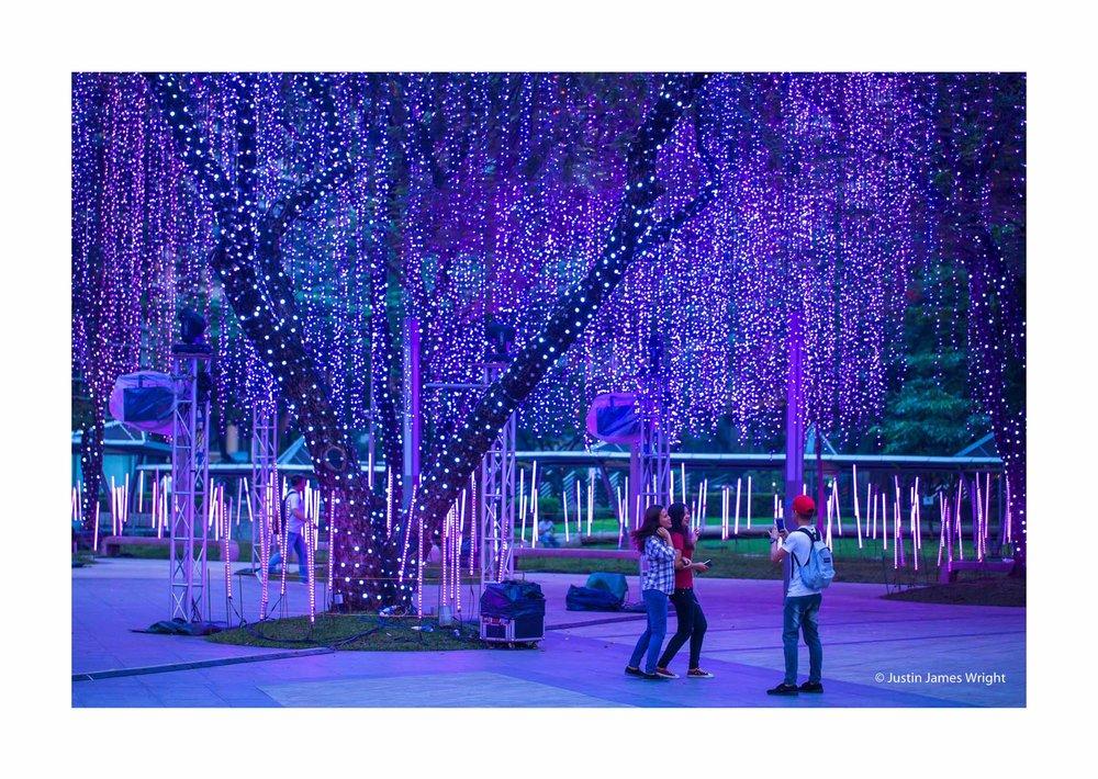Christmas light display, Ayala Triangle, Makati City, Philippines