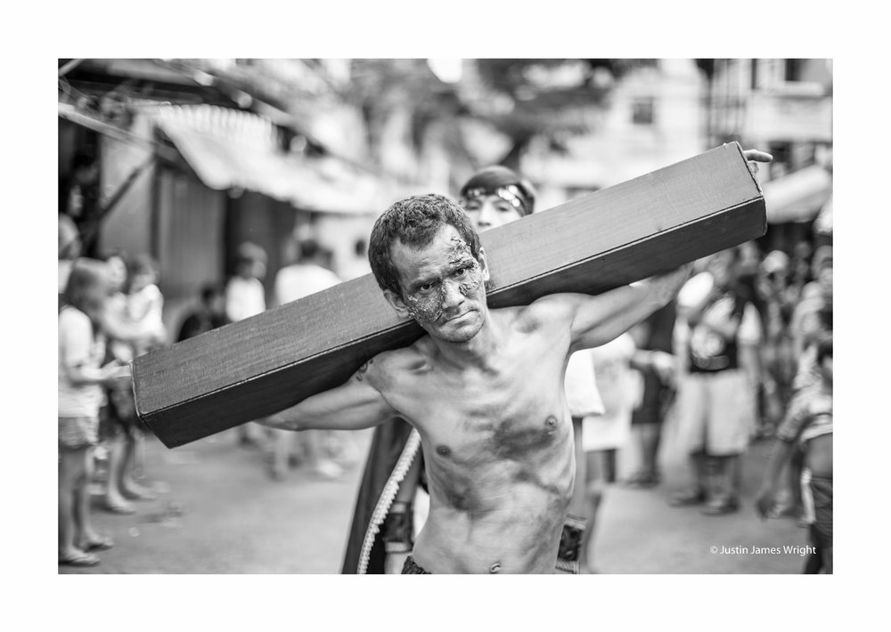 Senakulo - 2018, Good Friday, An annual tradition to commemorate the passion and death of Jesus Christ, Malibay, Pasay City, Metro Manila, Philippines