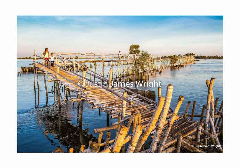 Precarious Bamboo Bridge   Navotas, Metro Manila, Philippines