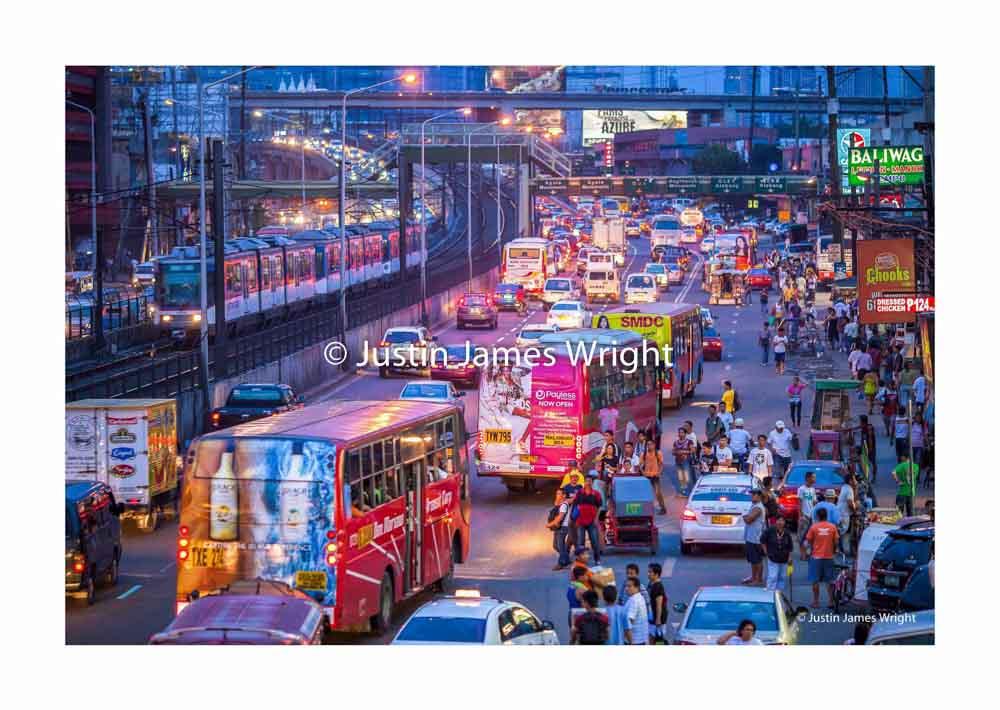 EDSA, The main artery through Metro Manila, a nightmare journey for many   Pasay City, Metro Manila, Philippines