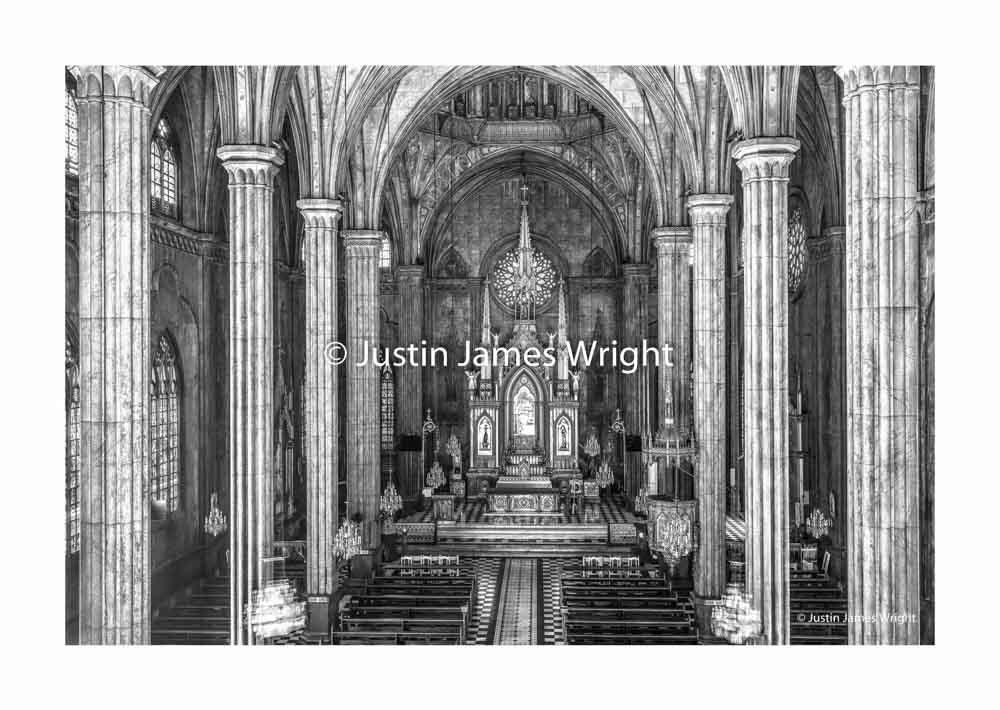 The Baslica Menor de San Sebastian (San Sebastian Church)  Manila, Philippines