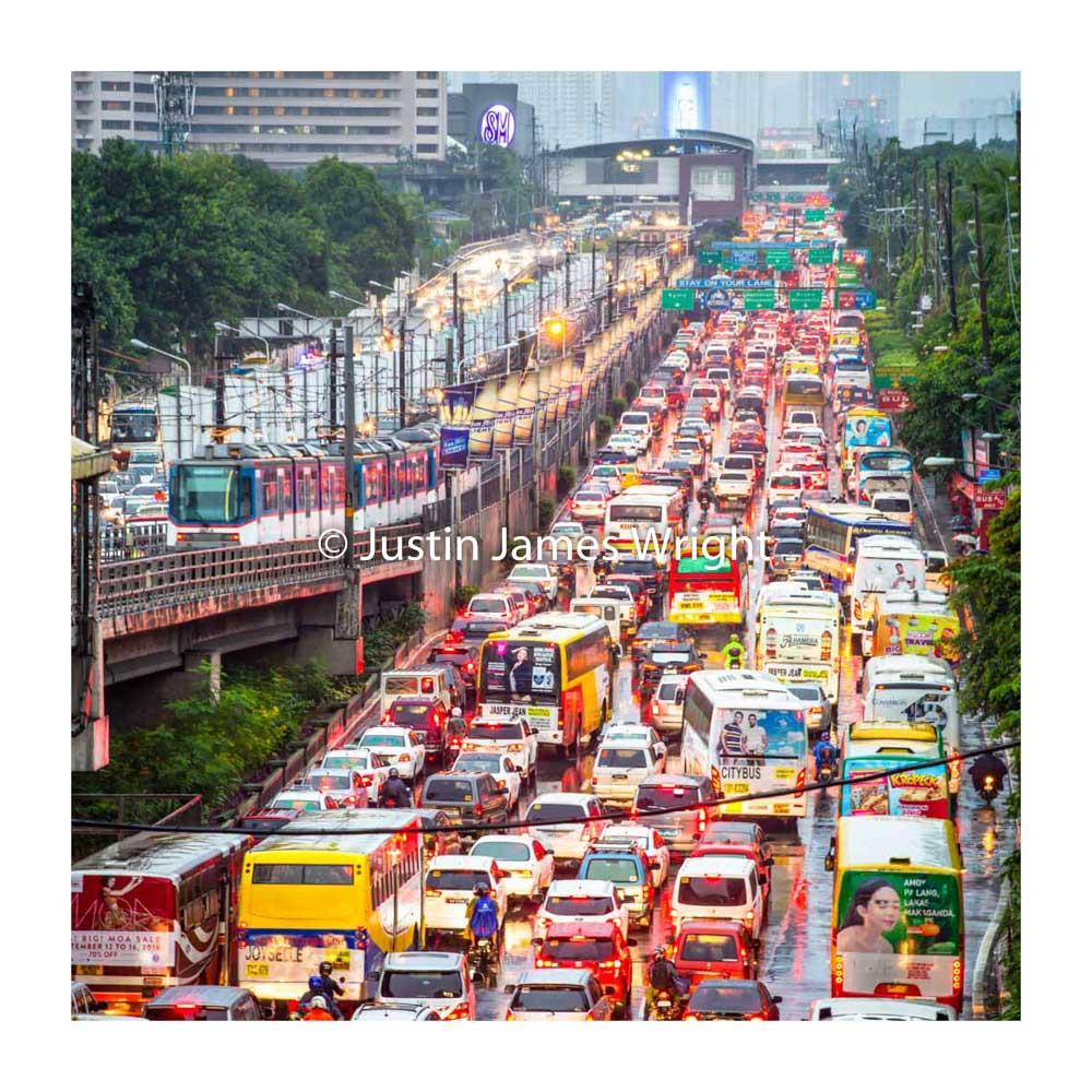 EDSA,   The main artery through Metro Manila, a nightmare journey for many.  Makati City, Metro Manila, Philippines