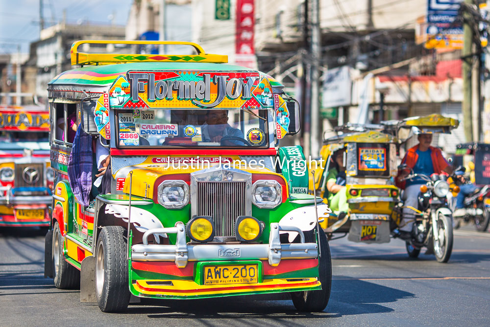 Colourful Jeepney, Dagupan City, Pangasinan, Philippines   Philippine Image # 4016  If you wish to purchase a photography print of this image, or would like to license this image please contact us using the form below.  Please kindly include the Image Title and Image Ref # in your message, we will get back to you.