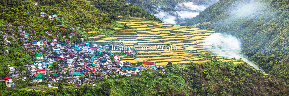 Bayyo Rice Terraces Panorama, Bontoc, Mountain Province, Philippines    A UNESCO World Heritage Site   Philippine Stock Image # 4042   Purchase a License   High Resolution Royalty-Free License   Large - Php 19,000.00   14024 x 4675 px (46.7 x 15.6 in)  300 dpi – 65.5 MP    Details   Credit: Justin James Wright  Image # 4042  License Type: Royalty-Free  Release Info: No Release Required  If you wish to purchase the license for this image please kindly contact us via the Form below.  Please kindly include the Image Title and Image Ref # in your email, we will get back to you.